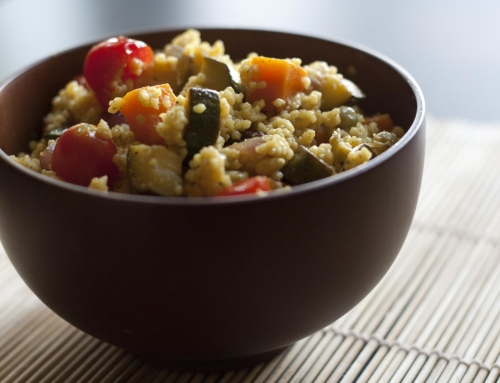 Amaranth and vegetable couscous