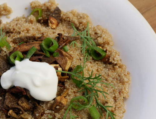 Amaranth and Fresh Vegetable Risotto