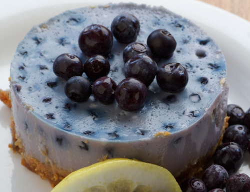 No-bake Baobab and Blueberry Cheesecake