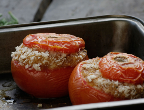 Amaranth Stuffed Tomatoes