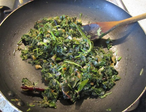 Amaranth Leaves Stir-fry With Ginger