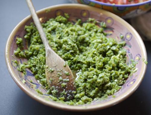 Marula Nut-Basil Pesto