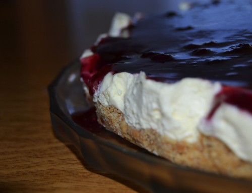 Cheesecake with rosella coulis*